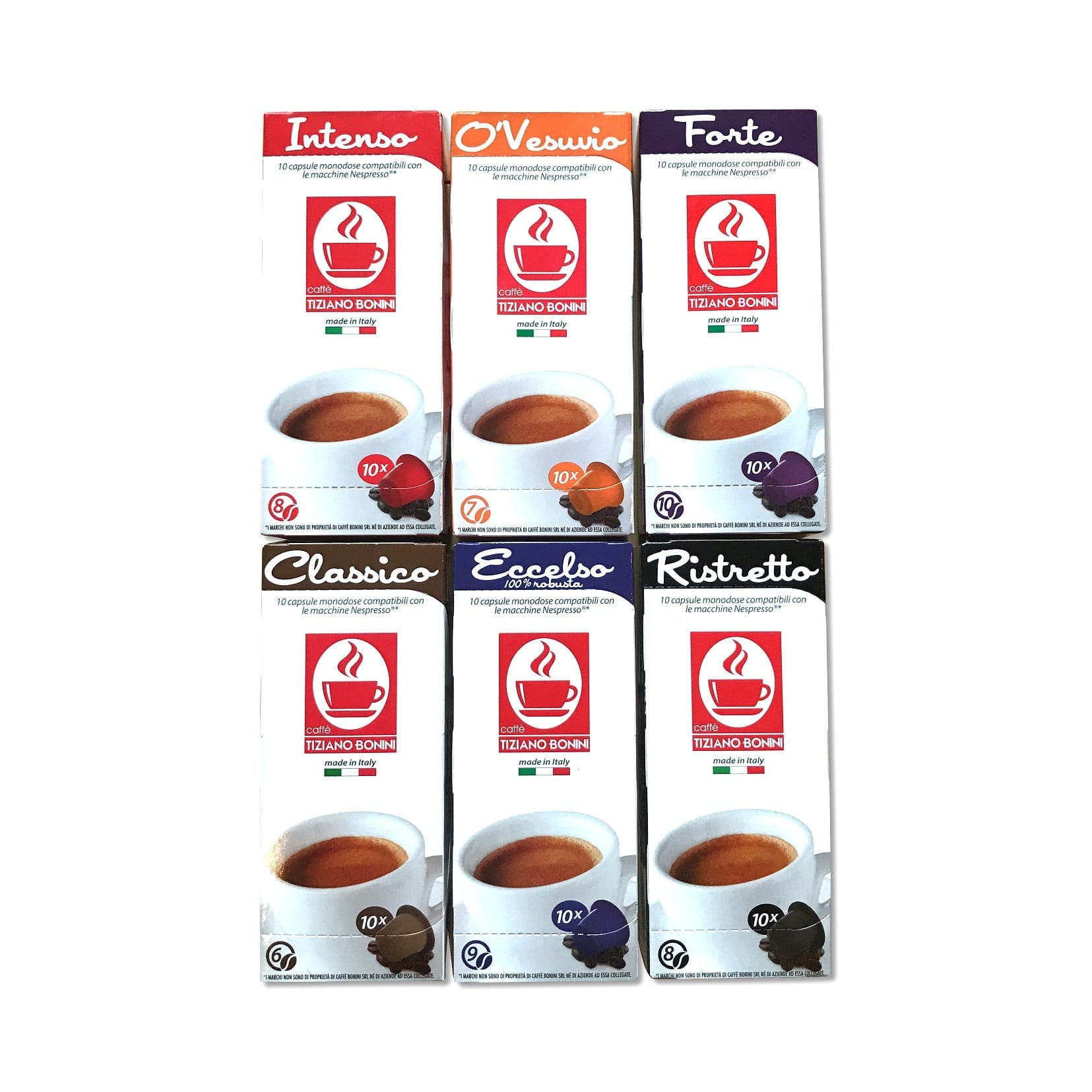 Nespresso Compatible Variety Pack 60 Capsules
