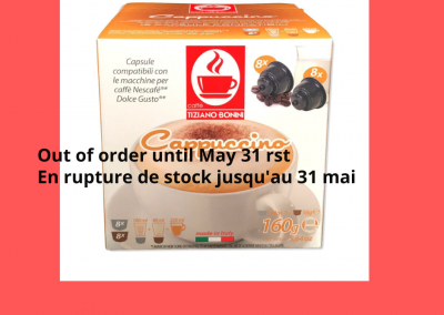 Cappucino Dolce Gusto Back Order