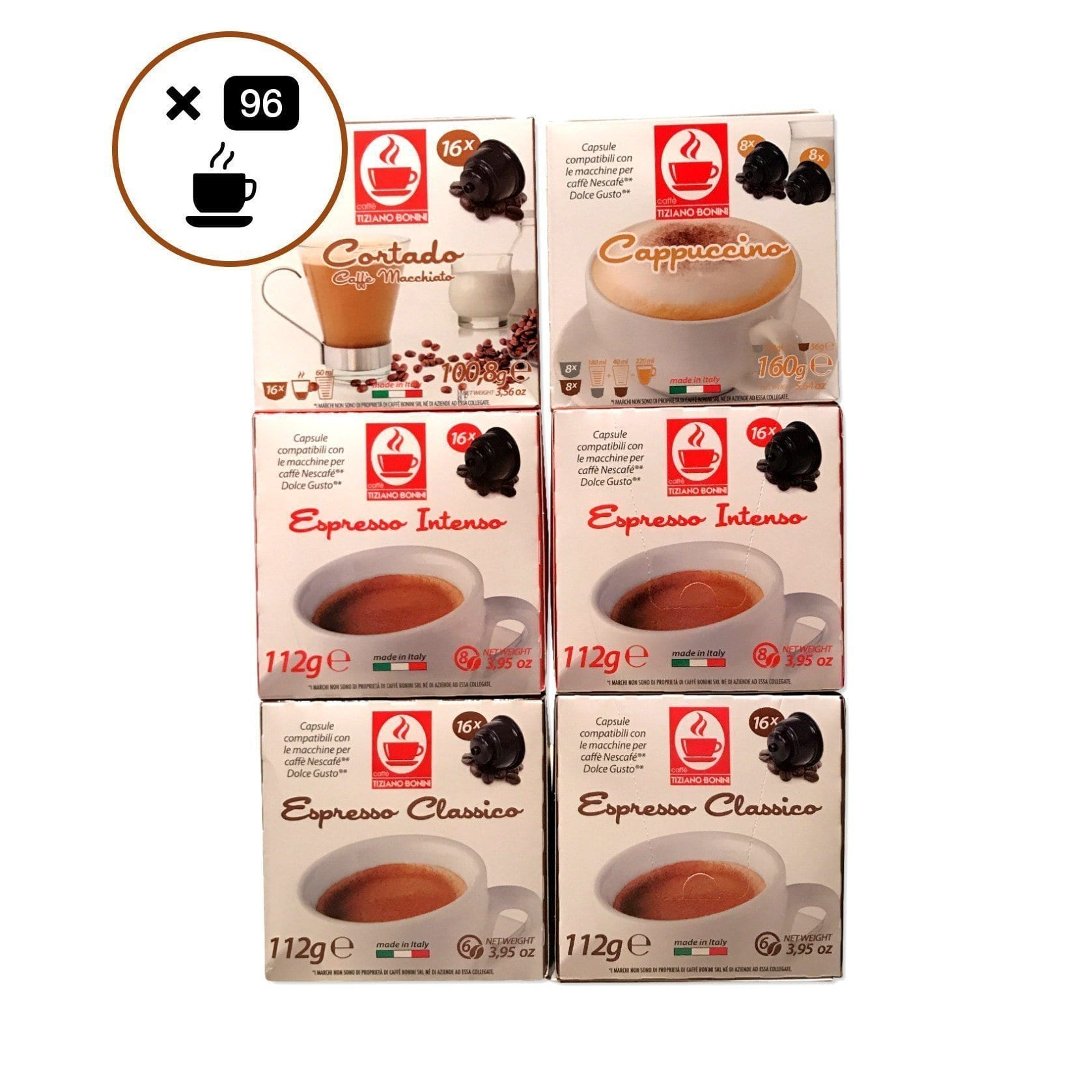 Dolce Gusto Compatible 96 Capsules Discovery Kit/ Variety Pack