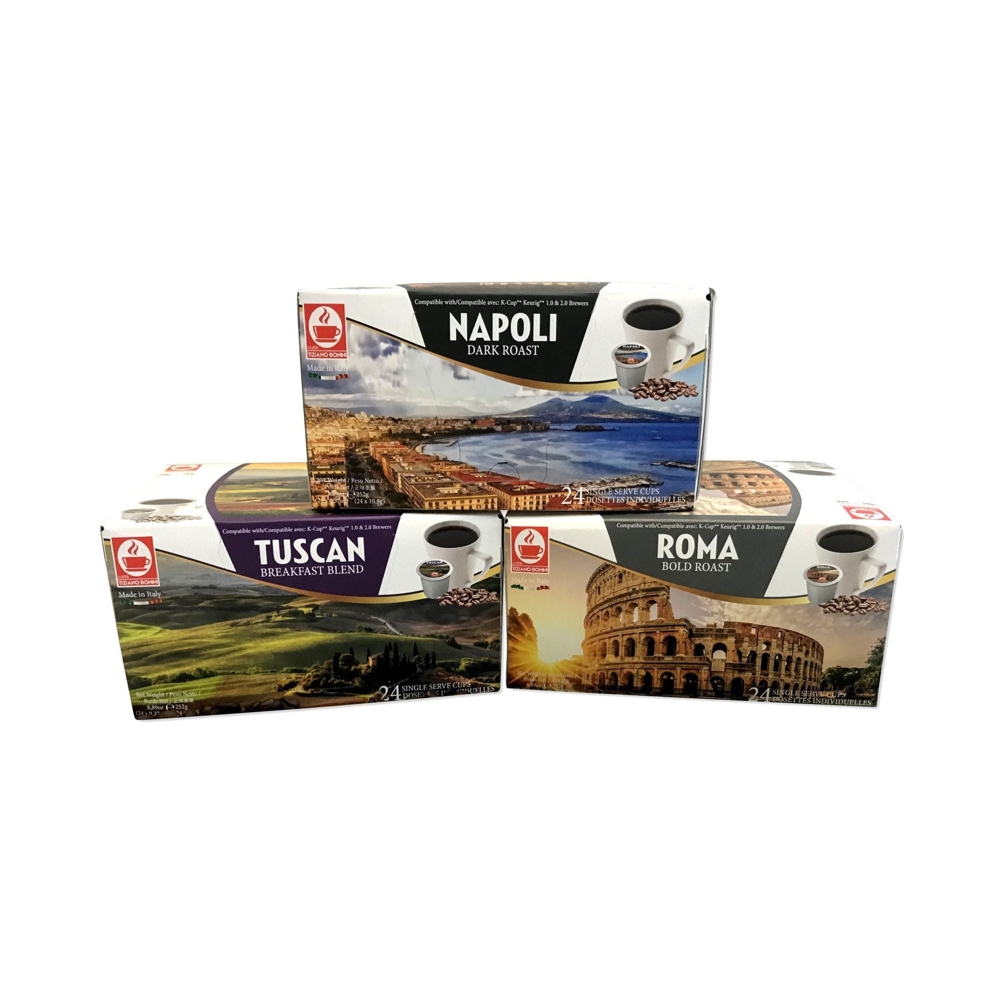 K-cup compatible discovery kit 72 Bonini Coffee